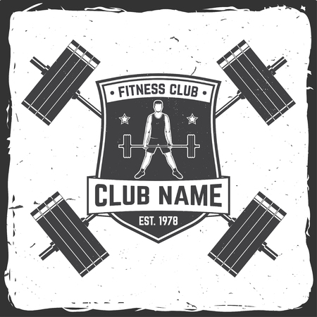 Fitness club badge For fitness centers emblems gym signs 写真素材 - 102465210
