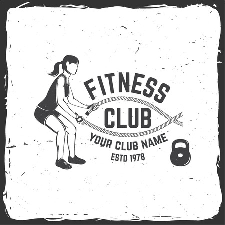 Fitness club badge For fitness centers emblems gym signs