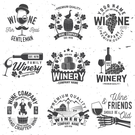 Set of winer company badge, sign or label. Vector illustration. 版權商用圖片 - 102792801