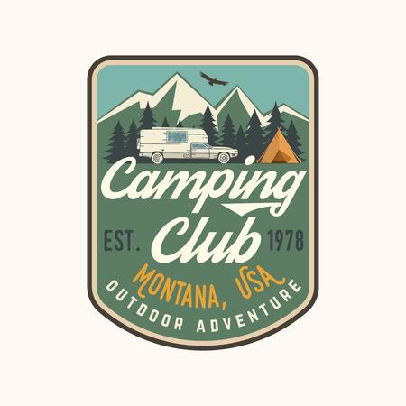 Camping extreme adventure . Vector illustration. Çizim
