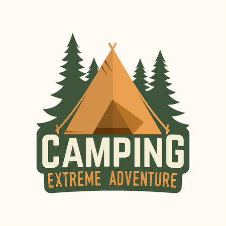 Camping extreme adventure logo . Vector illustration. 일러스트