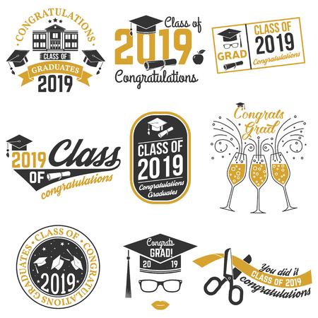 Vector Class of 2019 badge.