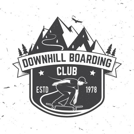 Downhill boarding club badge. Vector illustration 일러스트