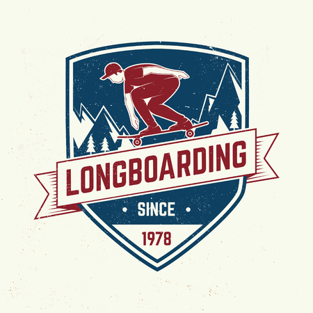 Downhill boarding club badge. Vector illustration Ilustracja