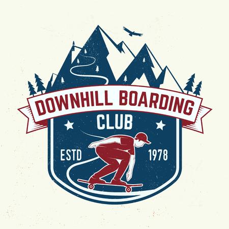 Downhill boarding club badge. Vector illustration Illustration