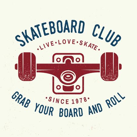 Skateboard club badge. Vector illustration.