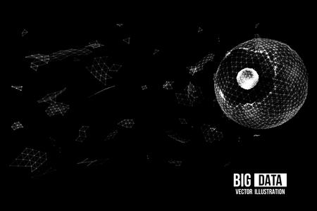 Visual Analytics for Big Data. Vector illustration.