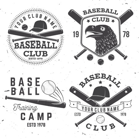Baseball club badge. Vector illustration. Concept for shirt or logo, print, stamp or tee. Banque d'images - 105941794