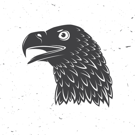 Head of golden eagle. Vector illustration. Bird symbol of powerful, proud, freedom and independence.