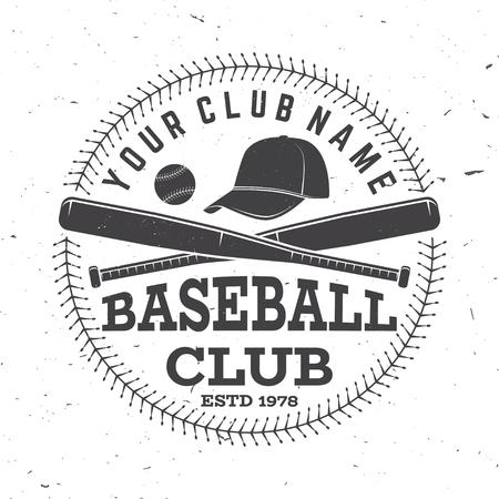 Baseball club badge. Vector illustration. Concept for shirt or logo, print, stamp or tee.