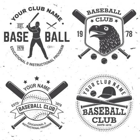 Baseball club badge. Vector illustration. Concept for shirt design, print, stamp or tee.
