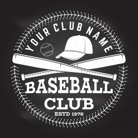Baseball club badge. Vector illustration. Concept for shirt design, print, stamp or tee.