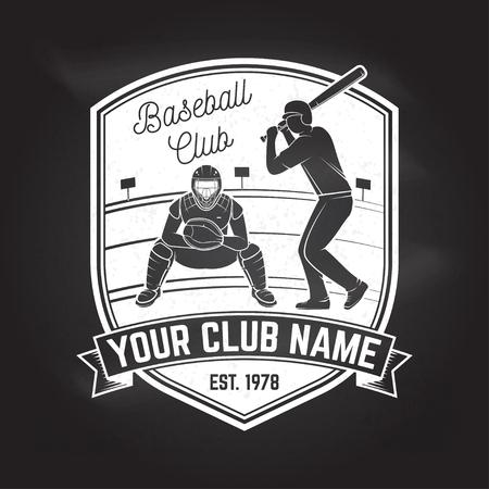 Baseball or softball club badge. Vector illustration. Concept for shirt design, print, stamp or tee. 向量圖像