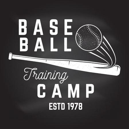 Baseball training camp on the chalkboard.