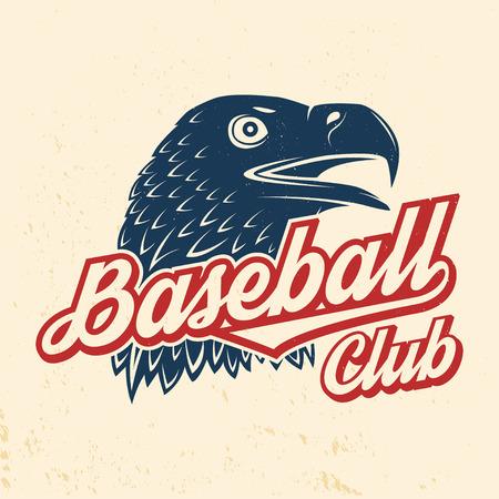 Baseball club badge. Vector illustration. Concept for shirt design, print, stamp or tee. Stock Vector - 115982056
