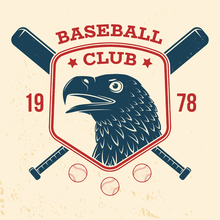 Baseball club badge.Vector illustration. Concept for shirt design, print, stamp or tee.