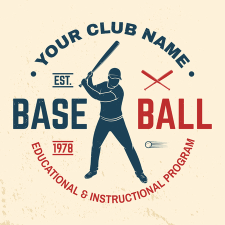 Baseball club badge. Vector illustration. Concept for shirt or logo, print, stamp or tee. Stock Illustration - 110212259
