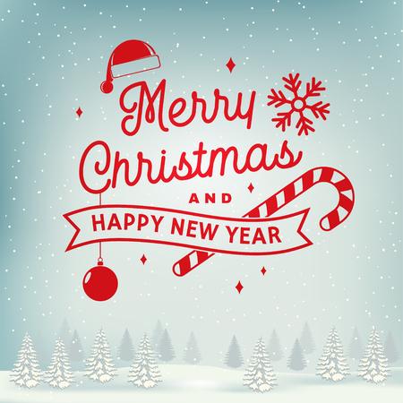 Nous vous souhaitons un très joyeux Noël et une bonne année, un ensemble d'autocollants avec des flocons de neige, un sapin de Noël, un cadeau.
