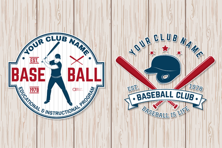 Baseball club badge. Vector illustration. Concept for shirt or logo, print, stamp or tee.