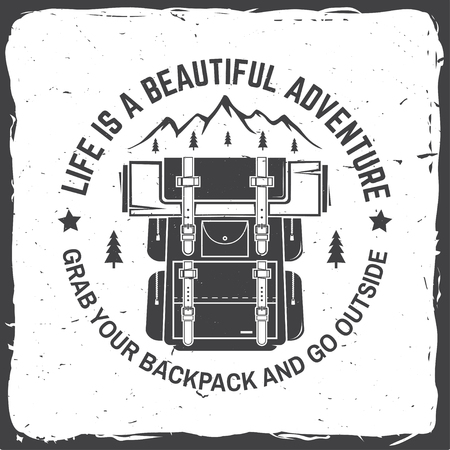 Life is a beautiful adventure. Vector illustration. Concept for shirt or logo, print, stamp or tee