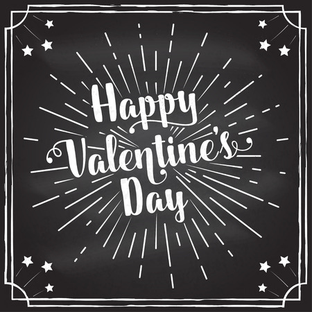 Happy Valentine s Day text and lettering. Vector Illustration.