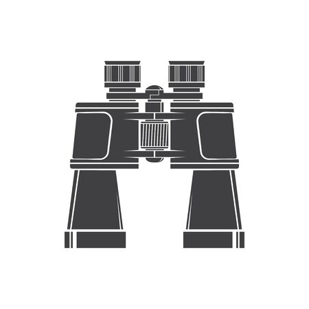 Binoculars silhouette isolated on white background. Vector. Hunting binoculars.
