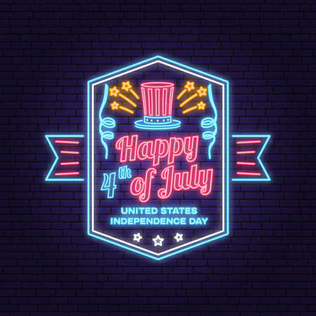 Vintage 4th of july design in retro style.