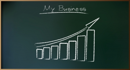 mlm: Business Plan on Schoolboard in Vector illustration