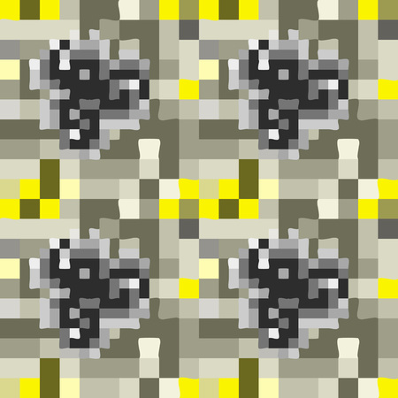 checked: Abstract two-toned checked seamless ornament