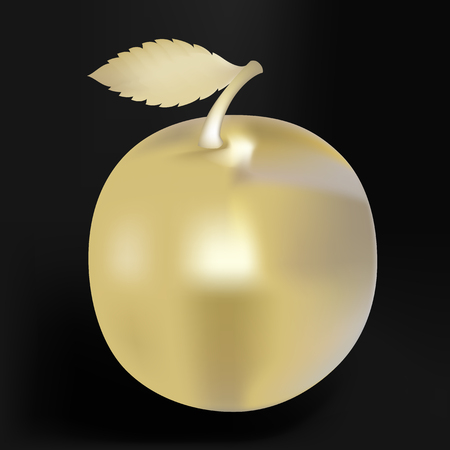 expensive food: Vector illustration, in the form of golden apple