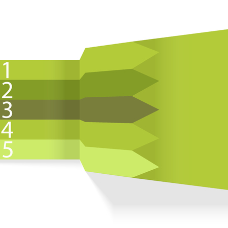 prospects: vector illustration of a beautiful arrows prospects in green colors