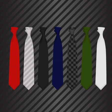 medium group of people: vector illustration Tie on carbon background