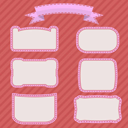 Vector illustration of beautiful white frame on a pink background 向量圖像