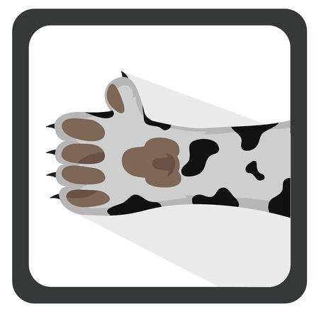 vector illustration dog dalmation, which shows a thumbs up