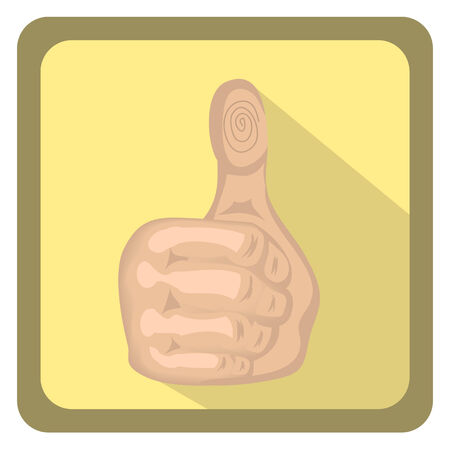vector illustration a person who shows a thumbs up