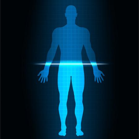 corpo umano: vector illustrationScan umana Vettoriali