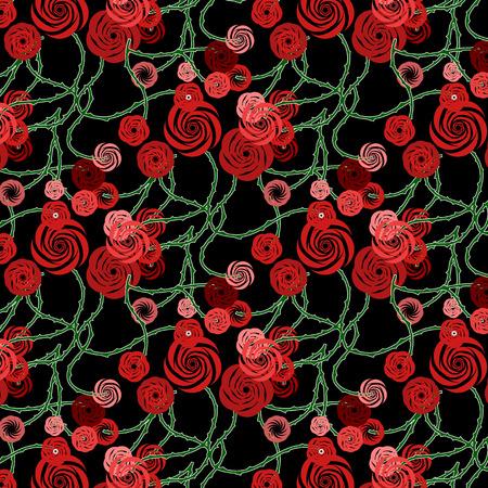 vector illustrationbeautiful roses wallpaper 向量圖像