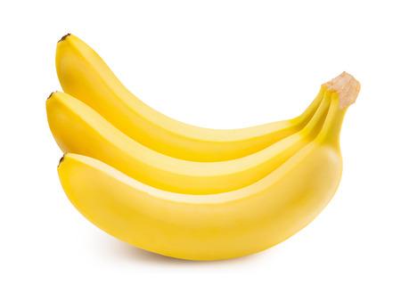 banana skin: Bananas. Ripe bananas isolated on white background Stock Photo