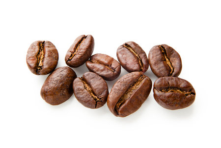cafe colombiano: Coffee. Coffee beans isolated on white background Foto de archivo