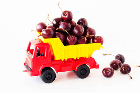 toy car with a sweet cherry in the back photo