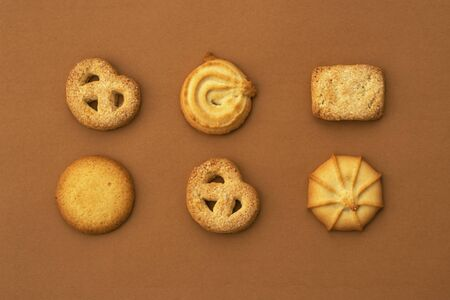 pattern of a conventional Christmas cookie different shapes