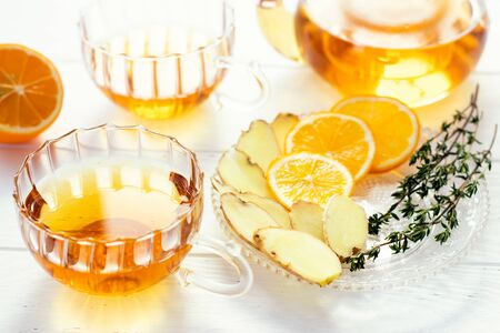 tea with lemon and ginger is a natural remedy for the prevention and treatment of viral diseases and colds.