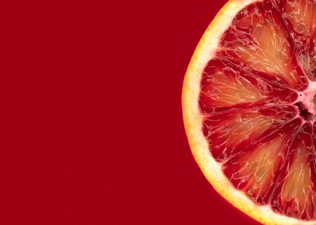 Red orange is a source of vitamins for maintaining health and preventing viruses