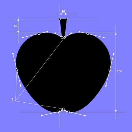 Vector apple in structural style