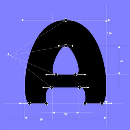 Vector A in structural style