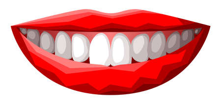 Vector lips in graphic style Vector Illustration