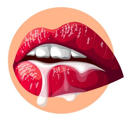 Vector lips in gradient style