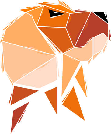 Vector dog in low poly style