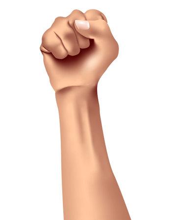 Vector fist in gradient style Ilustracja