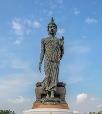 buddha statue: Buddha statue and blue sky, Thailand